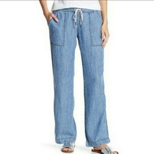 Michael Stars chambray drawstring pants S